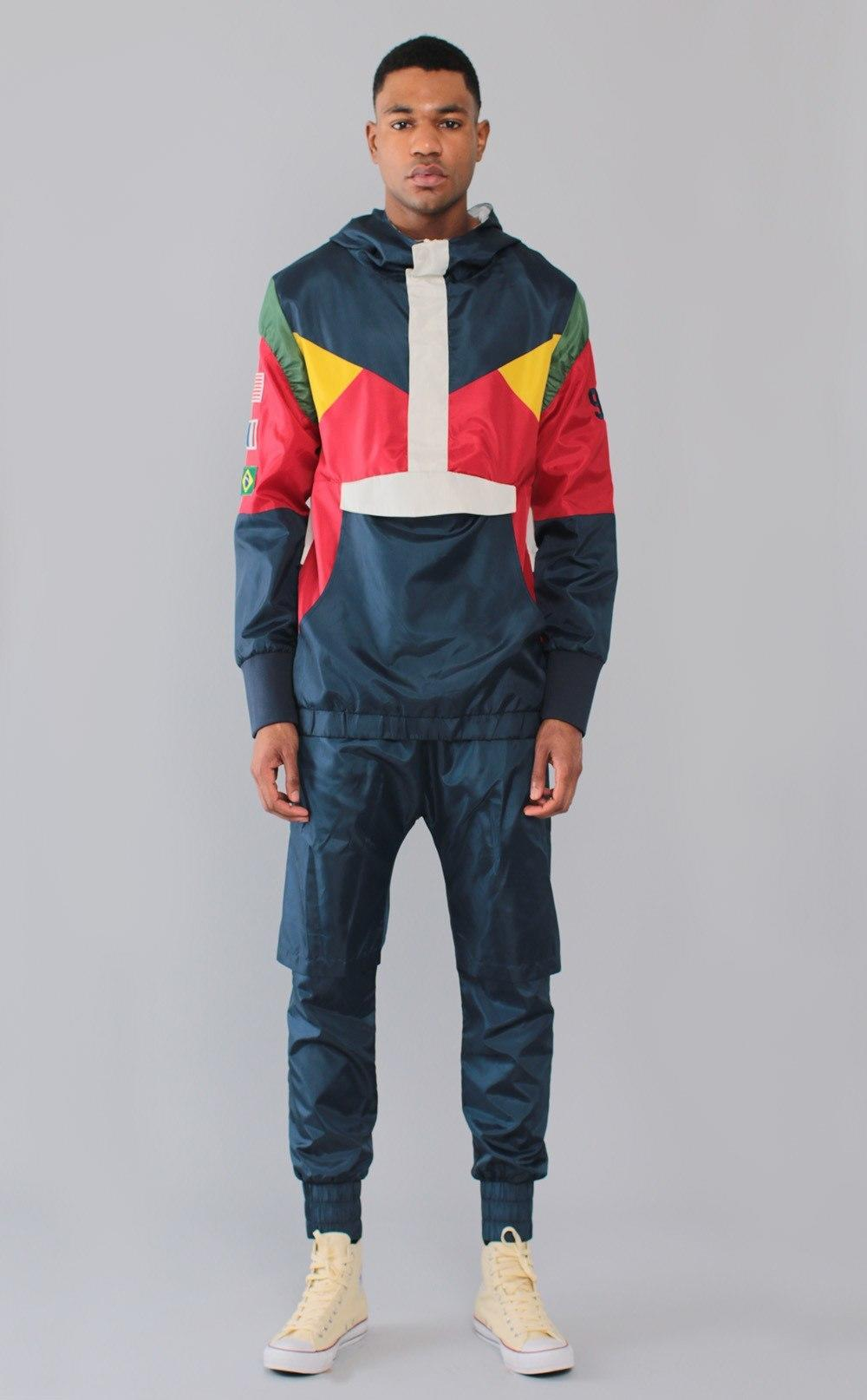 Entree Ls Olympic Windbreaker Navy Jacket From Entree