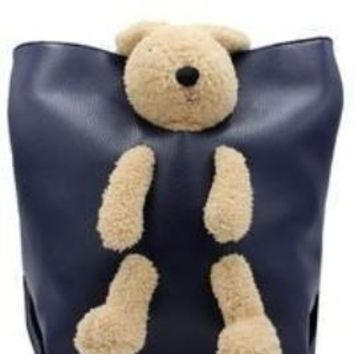 Teddy In a Bag Bucket Pocketbook