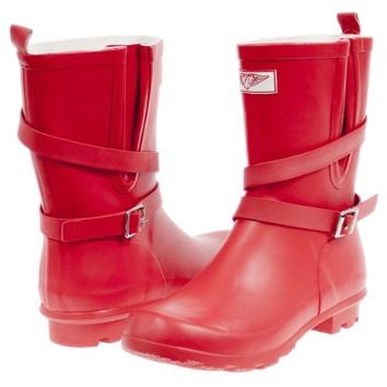 Forever Young Women Mid-Rise Low Heel Rubber Rain Boots