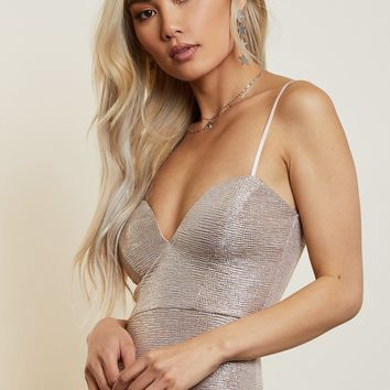 Rose Gold Bodycon Dress