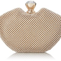 MG Collection Imelda Seashell Clutch