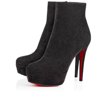 Christian Louboutin Cl Bianca Booty Charbon Suede 16w Ankle Boots 3160752i132 - Best Online Sale