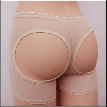 BUTT LIFT LIFTER BUTTOCKS PANTY TUMMY CONTROL GIRDLE (LARGE Beige ) = 1715823108