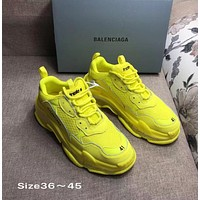 YELLOW BALENCIAGA SNEAKERS SHOES FOR WOMEN MEN GIFT