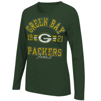 Green Bay Packers Ladies Illegal Formation Long Sleeve T-Shirt - Green