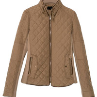 Light Brown Zippered Coat
