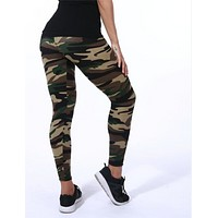 Women Skinny Camouflage Leggings