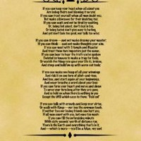 A4 Size Parchment Poster Classic Poem Rudyard Kipling If