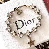DIOR Hot Sale Woman Fashion Diamond Bracelet Hand Catenary Accessories Jewelry