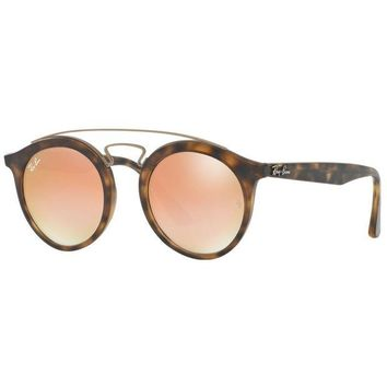 Kalete Ray-Ban RB4256 6267B9 Gatsby Double Bridge Copper Gradient Tortoise Sunglasses