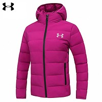 Under Armour New fashion letter print couple hooded down jacket coat