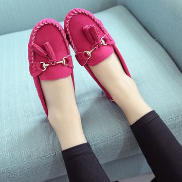 Round-toe Tods Soft Flat Shoes [8865370380]