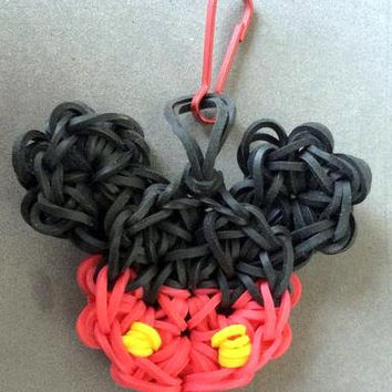 Mickey Mouse - Charm - Rainbow loom Charm - Zipper Pull - Rainbow Loom Zipper Pull - Mickey Mouse Charm - Bands - Rubber Band Charm