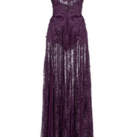 Macramé Lace Long Dress | Moda Operandi