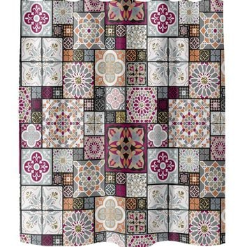 MOROCCAN TILE Shower Curtain By Pip & Lulu