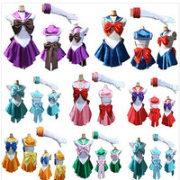 New Anime Pretty Soldier Sailor Moon Cosplay Costume female halloween party Costume