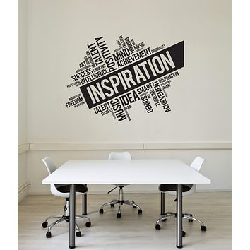 Vinyl Wall Decal Inspiration Words Cloud Office Interior Decor Art Stickers Mural (ig5753)