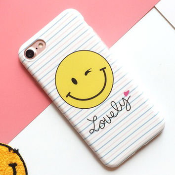 High-quality Nanometer Protect Lover Smiling Face Cover for iPhone 7 7Plus & iPhone 6 6s Plus & iPhone 5s se Case +Gift Box-E12