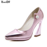 New Sexy Fashion Women High Heels Shoes Woman Pumps Party Wedding Pointed Toe Shoes La