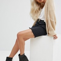 ASOS PETITE Chunky Cardigan In Fluffy Rib at asos.com