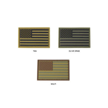 PVC US Flag Patch Color- Multicam (6 Pack)