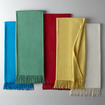 Woven Fringed Throw - Sofia Cashmere