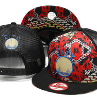 Golden State Warriors The City Logo Chain and Rose New Era Snap Back Hat