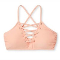 Women's Lace Up Bralette Bikini Top - Xhilaration™