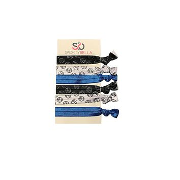 Girls Volleyball Hair Ties, Blue