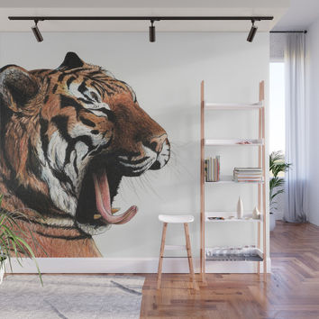 Yawning Wall Mural by savousepate