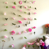 6 colorful flower garlands