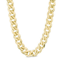 Men's 10K Gold 10.3mm Curb Chain Necklace - 24