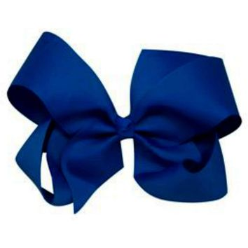 Grosgrain Boutique Hairbow, Royal Blue
