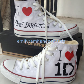 One Direction Converse Custom Converse Sneakers 1D Inspired 100% Hand Paint