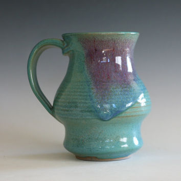 LARGE Coffee Mug, 20 oz, unique coffee mug, handmade ceramic cup, handthrown mug, stoneware mug, pottery mug, ceramics and pottery