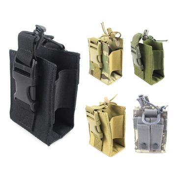 Tactical Molle Pouch Radio Walkie Talkie Holder Bag Outdoor Package Bag Magazine Mag Pouch Pocket Nylon