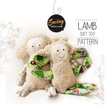 LAMB Sewing pattern, PDF tutorial, Baby gift, Farm animal, Toy animal, Handmade toy