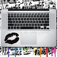 Makeup Artist Lips Kiss Keypad Girlfriend Models Blowing a Kiss Decal for Macbook or Laptop