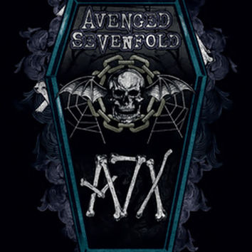 Avenged Sevenfold Poster Flag A7X Coffin Logo Tapestry