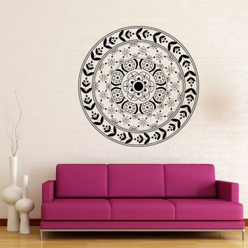 Vinyl Decal Ornament Circle Mandala Meditation Relaxation Wall Sticker (n878)