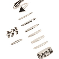 Burnished Feather Ring Set