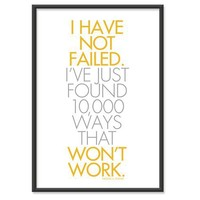 I Have not failed I've just found by theinksociety