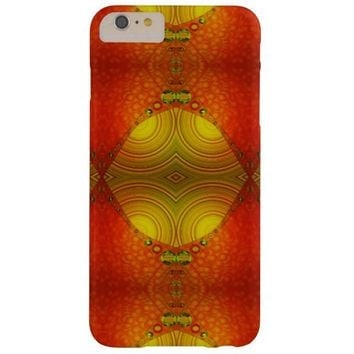 Orange Yellow Modern Abstract Barely There iPhone 6 Plus Case