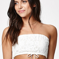 Kendall and Kylie Lace Tie Front Bandeau at PacSun.com