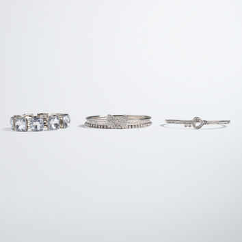 Key Bow Bangle Set