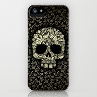 Sugar Skull flower pattern apple iPhone 4 4s, 5 5s 5c, iPod 4,5 & samsung galaxy s4 case cover