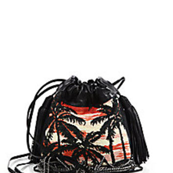yves saint laurent helena studded leather fringe crossbody bag