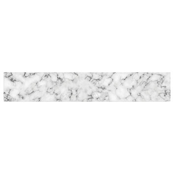 "Will Wild ""Marble"" White Gray Table Runner"