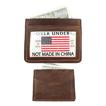 Horween Simple Card Wallet by Over Under Clothing