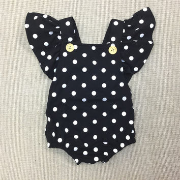 Baby Girl Dot Rompers